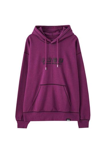 Sweatshirt em lilás STWD