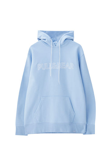 Hoodie with contrast embroidered logo