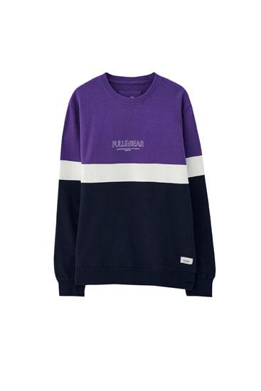 Colour block sweatshirt with logo