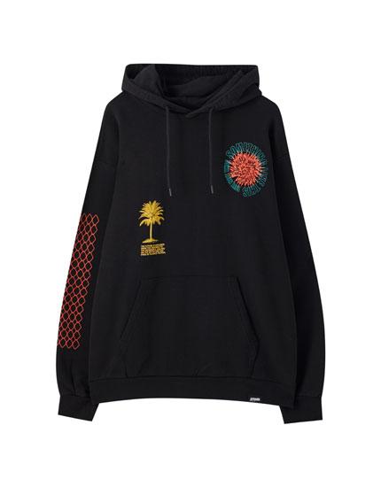 Schwarzes Sweatshirt aus Biobaumwolle