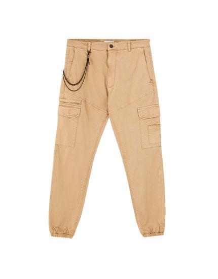 Chino παντελόνι cargo με αλυσίδα