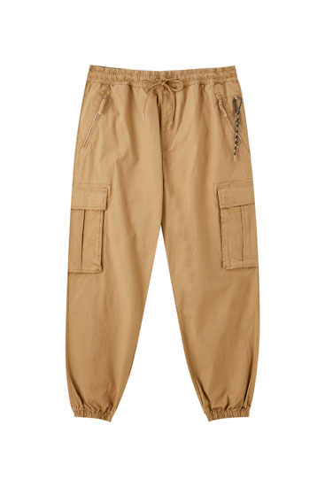 Ripstop cargo trousers with keyring