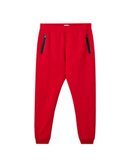 Pantalón jogging básico zipper