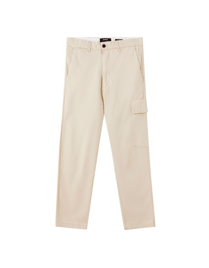 Cargo trousers with side pockets