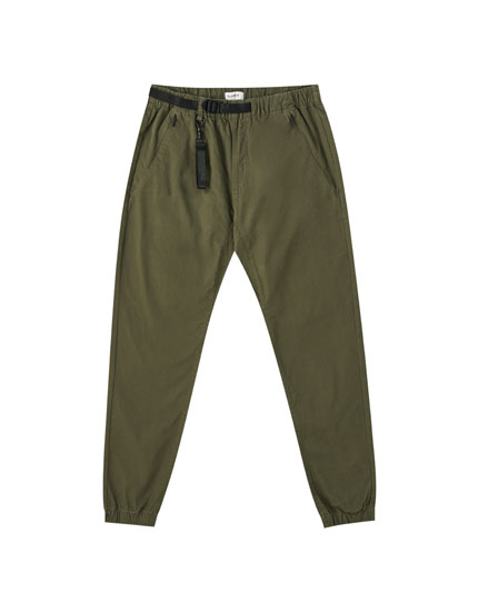 Basic beach trousers with belt