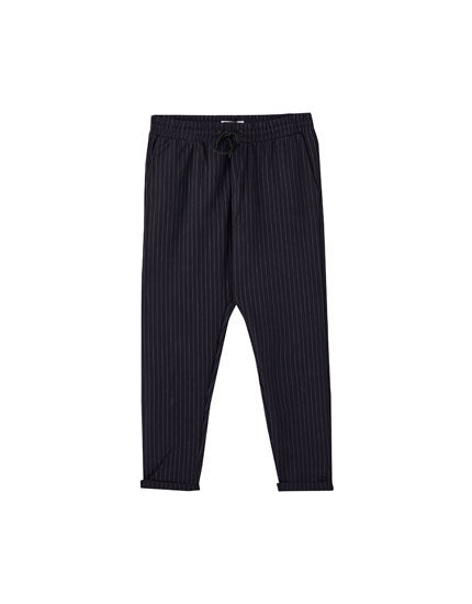 Striped tailored jogging trousers