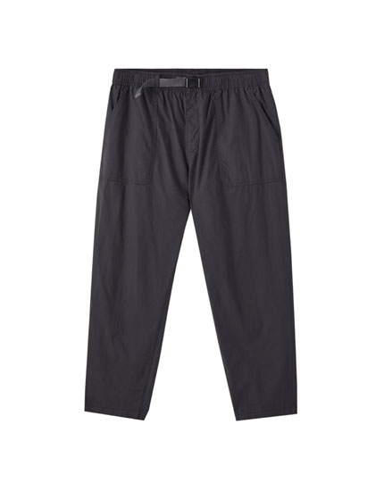 Grey cotton beach trousers