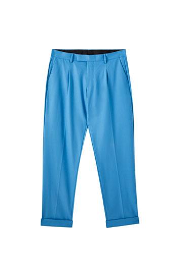 Παντελόνι κουστουμιού με πιέτες