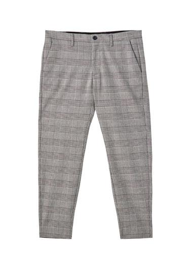 Pantalons tailoring quadres grisos