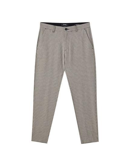 Pantalón beach tailoring gris cuadros