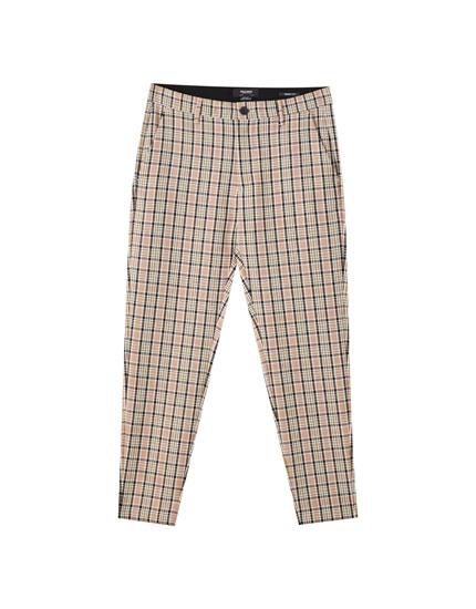 Pantalons tailoring quadres multicolor