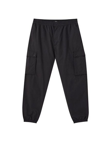 Beach fit cargo trousers with pockets