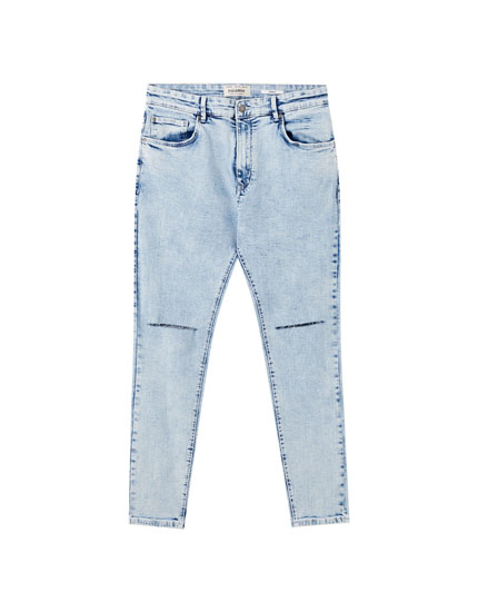 Jeans carrot fit básicos