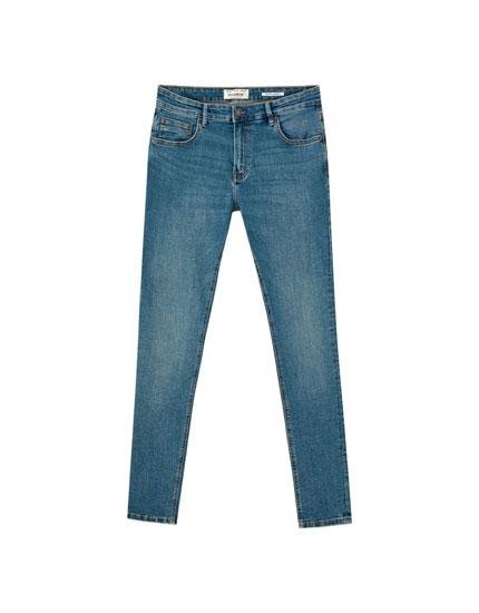 Jeans superskinny fit blu verde