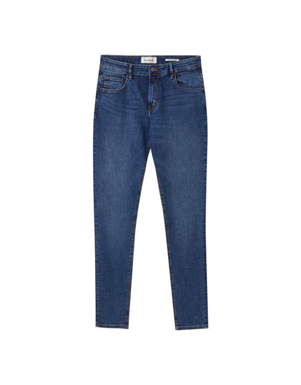 Medium blue super skinny jeans