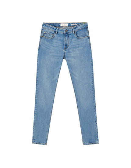 Jeans superskinny fit effetto consumato