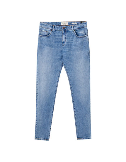 Medium blue skinny jeans