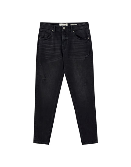 Black carrot fit jeans