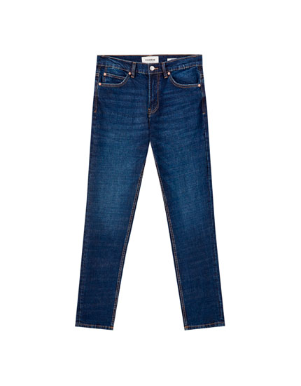 Donkerblauwe regular comfort fit jeans