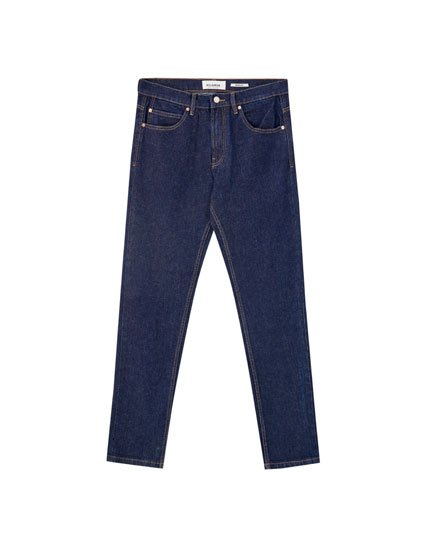 Regular comfort fit jeans with seams
