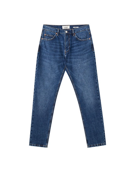 Medium blue regular comfort fit jeans
