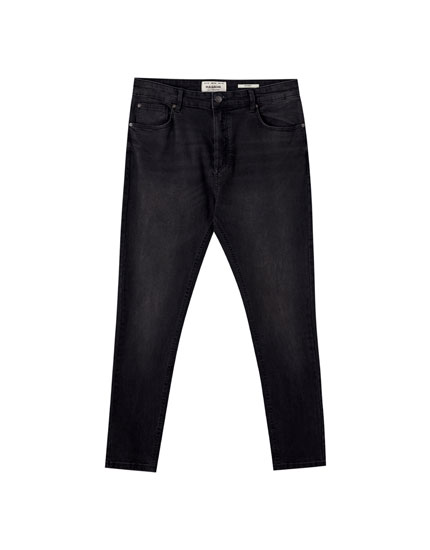 Basic zwarte carrot fit jeans
