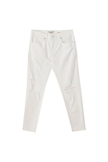 Premium ripped leg skinny jeans