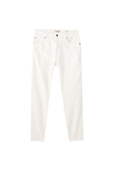 Jeans carrot blancos