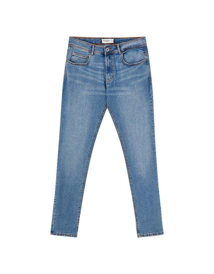 Blue super skinny jeans