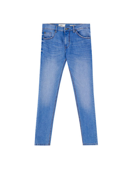 Jeans skinny fit basic azul