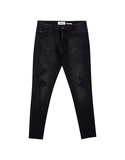 Zwarte carrot fit jeans