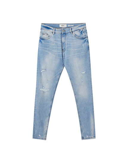 Jeans carrot premium bleached