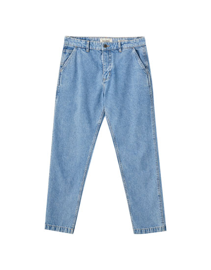 '90s light-coloured carpenter jeans