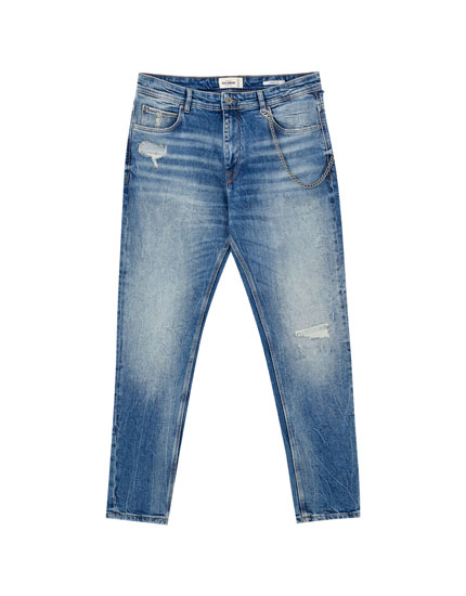 Coloured carrot jeans