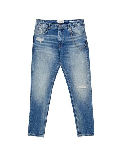 Coloured premium carrot fit jeans