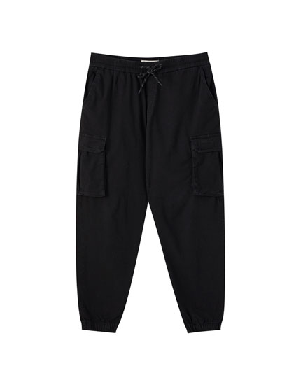 Denim cargo beach trousers
