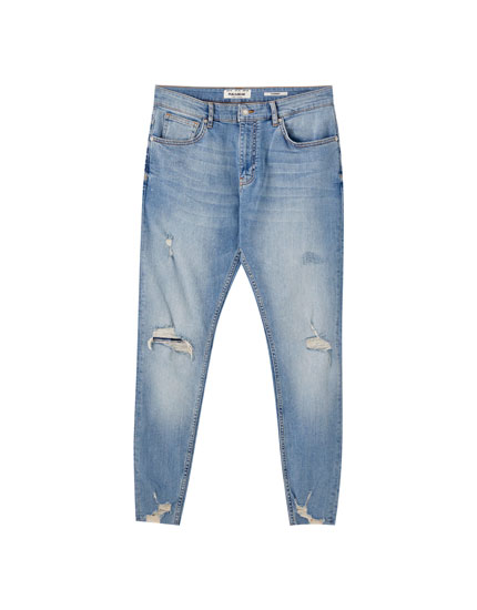 Premium ripped carrot fit jeans