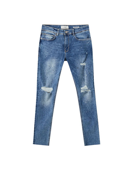 Superskinny jeans with rip detail