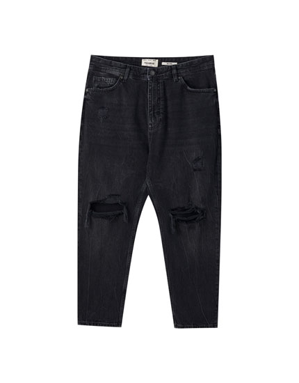 Jeans relaxed rotos trabillas