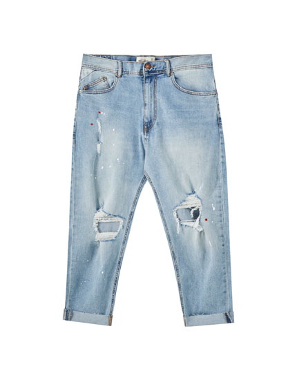 Jeans relaxed rotos pernera