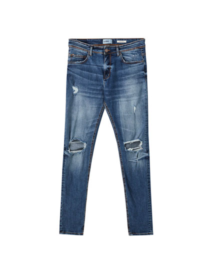 Jeans superskinny rotos rodillas