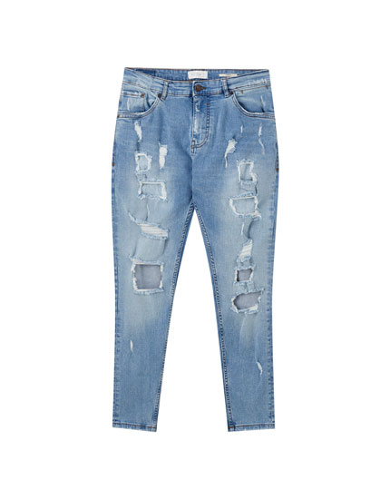 Medium blue carrot jeans