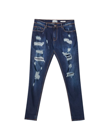 Jeans superskinny rotos pernera