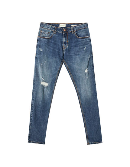 Jeans skinny premium detalle rotos