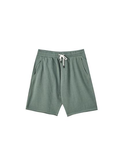 Basic faded jogging Bermuda shorts