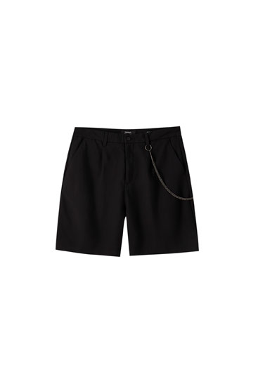 Tailored darted chino Bermuda shorts