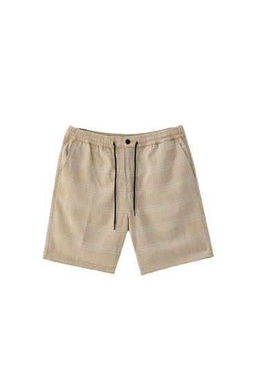 Tailored Bermuda shorts with drawstring detail