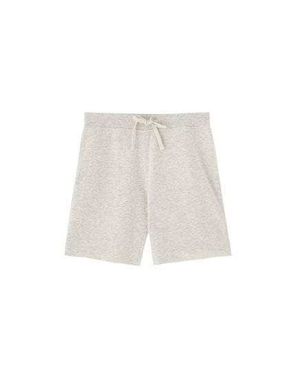 Basic-Bermudashorts aus Sweatstoff