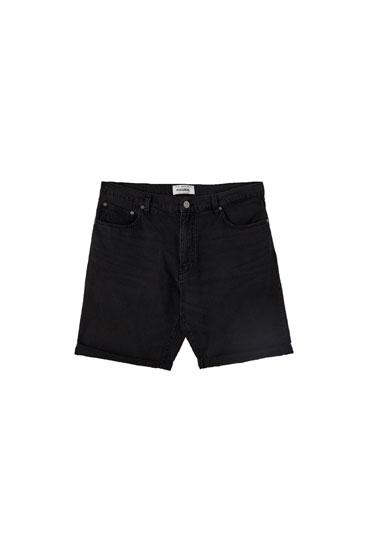 Denim Bermuda shorts in lightweight fabric
