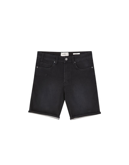 Basic denim Bermudas